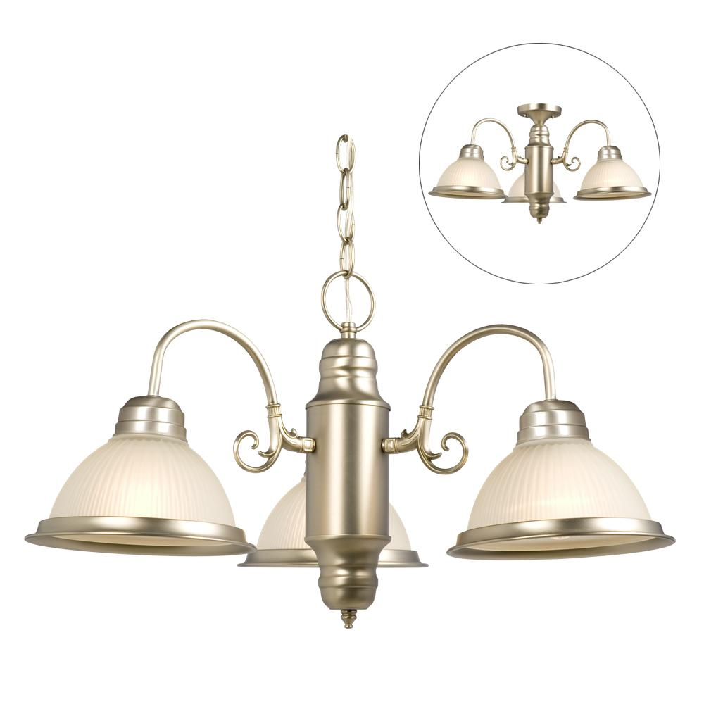 �Richardson Lighting in Saskatchewan, Canada,  6XC2L, Chain Hung or Flush Mount - Pewter w/ Frosted Ribbed Glass, Acadia, White