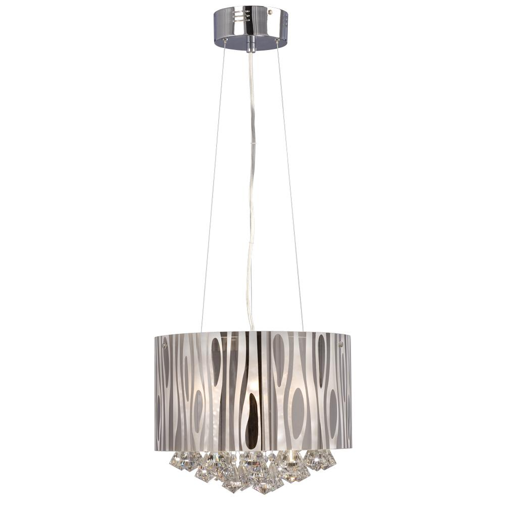 �Richardson Lighting in Saskatchewan, Canada,  6XHZ7, Pendant - Chrome Plated Frosted Glass and Drops, Lustre, Chrome