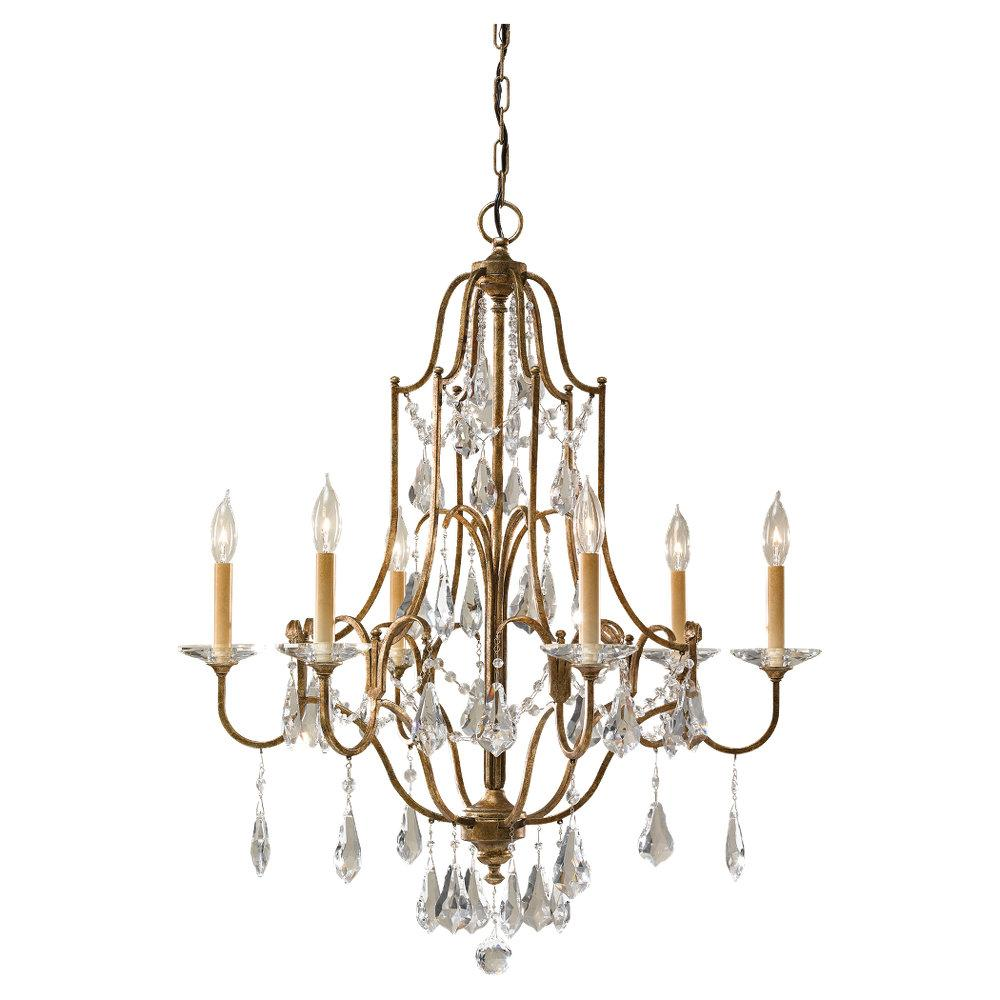 �Richardson Lighting in Saskatchewan, Canada,  7RD7R, Six Light Bronze Up Chandelier, Valentina, Oxidized Bronze ( Bronze )