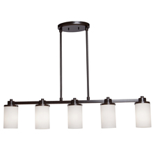 Artcraft AC1306WH - Parkdale 5 Light Oil Rubbed Bronze White Glass Island Light