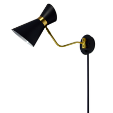 Dainolite 1681W-BK-VB - 1LT Wall Lamp, Black & Vintage Bronze Finish
