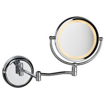 Dainolite MAGMIR-1W-PC - Swing Arm Lighted Magnifier Mirror
