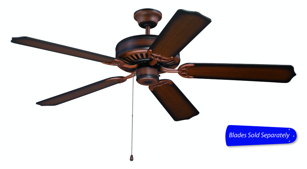 "Pro Builder 52"" Ceiling Fan in Biscay Walnut (Blades Sold Separately)"