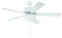 "Craftmade K10048 - Pro Builder 201 52"" Ceiling Fan Kit with Light Kit in White"