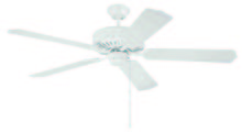 "Craftmade K10220 - Pro Builder 52"" Ceiling Fan Kit in White"