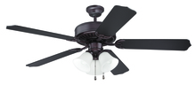"Craftmade K10423 - Pro Builder 205 52"" Ceiling Fan Kit with Light Kit in Oiled Bronze"