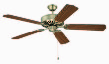 "Craftmade K11131 - Pro Builder 52"" Ceiling Fan Kit in Antique Brass"