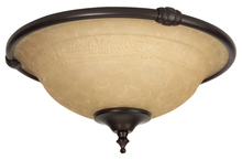 Craftmade LK24CFL-OB - 2 Light Bowl Fan Light Kit in Oiled Bronze with Antique Scavo Glass