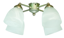 Craftmade LK401CFL-BN - 4 Light Universal Fan Light Kit in Brushed Satin Nickel with Alabaster Glass