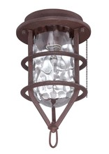 Craftmade OLK200CFL-ABZ - 1 Light Outdoor Cage Fan Light Kit in Aged Bronze Brushed with Clear Water Glass