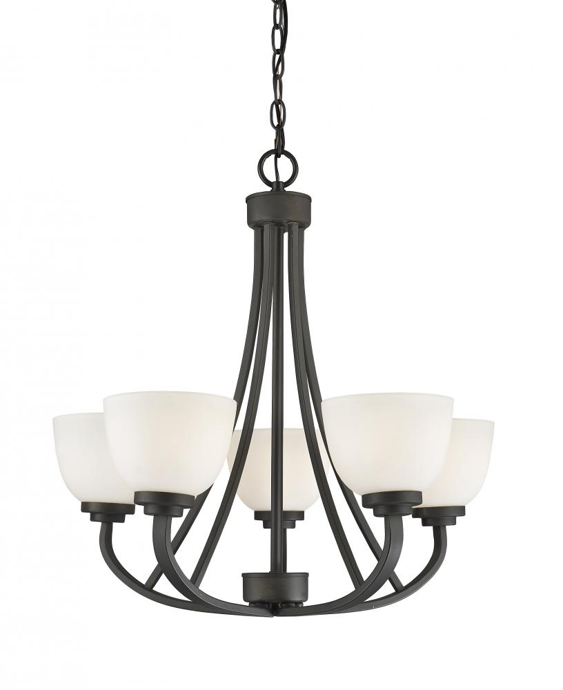 Richardson Lighting in Saskatchewan, Canada,  304AM9H, 5 Light Chandelier, Ashton