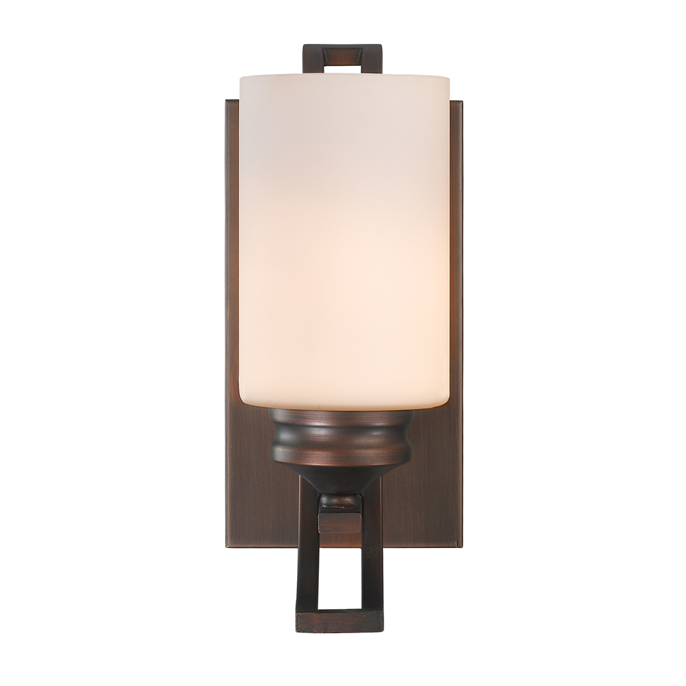Hidalgo One Light Wall Sconce in the Sovereign Bronze finish with Opal Glass