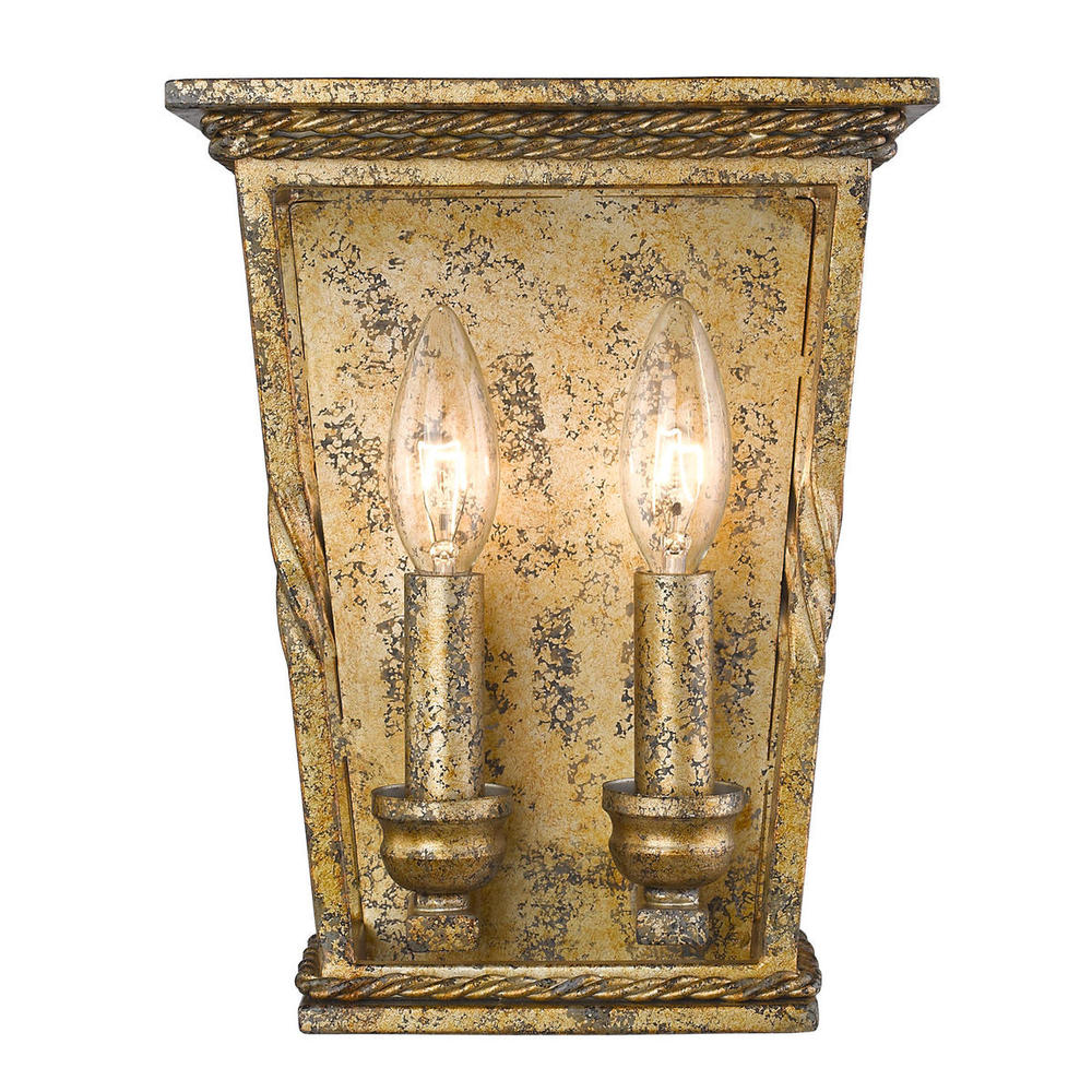 Davenport 2 Light Wall Sconce in Luxe Gold
