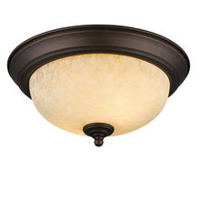 Golden Canada 1260-11 RBZ-TEA - Multi-Family Flush Mount in Rubbed Bronze with Tea Stone Glass