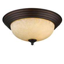 Golden Canada 1260-13 RBZ-TEA - Multi-Family Flush Mount in Rubbed Bronze with Tea Stone Glass
