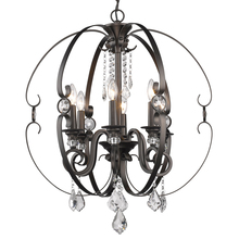 Golden Canada 1323-6 EBB - Ella 6 Light Chandelier in Brushed Etruscan Bronze