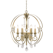 Golden Canada 1323-6 WG - Ella 6 Light Chandelier in White Gold