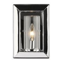 Golden Canada 2074-1W CH-CLR - Smyth 1 Light Wall Sconce in Chrome with Clear Glass