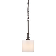 Golden Canada 2116-M1L RBZ-OP - Beckford RBZ Mini Pendant in Rubbed Bronze with Opal Glass