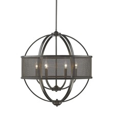 Golden Canada 3167-6 EB-EB - Colson EB 6 Light Chandelier (with shade) in Etruscan Bronze