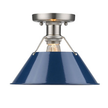 Golden Canada 3306-FM PW-NVY - Orwell PW Flush Mount in Pewter with Navy Blue Shade