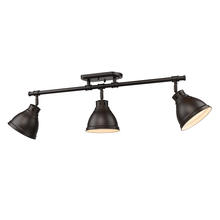 Golden Canada 3602-3SF RBZ-RBZ - Duncan 3 Light Semi-Flush - Track Light in Rubbed Bronze with Rubbed Bronze Shades