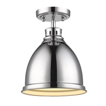 Golden Canada 3602-FM CH-CH - Duncan Flush Mount in Chrome with a Chrome Shade
