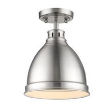 Golden Canada 3602-FM PW-PW - Duncan Flush Mount in Pewter with a Pewter Shade