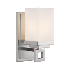 Golden Canada 4444-BA1 PW - Nelio 1 Light Bath Vanity in Pewter with Cased Opal Glass