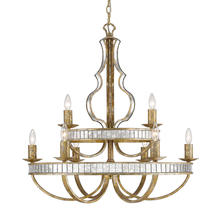 Golden Canada 5140-9 LG - Hayworth 2 Tier - 9 Light Chandelier in Luxe Gold