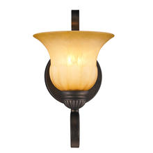 Golden Canada 7116-1W LC - Mayfair 1 Light Wall Sconce in Leather Crackle with Cr�me Brulee Glass