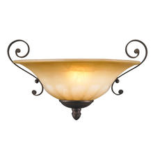 Golden Canada 7116-WSC LC - Mayfair Wall Sconce in Leather Crackle with Cr�me Brulee Glass