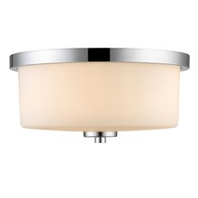 Golden Canada 8037-FM CH-OP - Evette Flush Mount in Chrome with Opal Glass