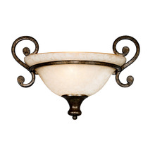Golden Canada 8063-WSC BUS - Heartwood 1 Light Wall Sconce in Burnt Sienna with Tea Stone Glass