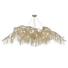Golden Canada 9903-24 MG - Autumn Twilight 24 Light Chandelier in Mystic Gold
