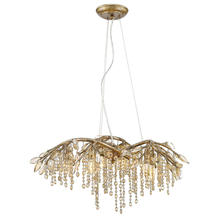 Golden Canada 9903-6 MG - Autumn Twilight 6 Light Chandelier in Mystic Gold