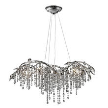 Golden Canada 9903-6 MSI - Autumn Twilight 6 Light Chandelier in Mystic Silver