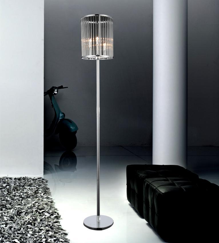 3 Light Chrome Floor Lamp from our Wyatt collection