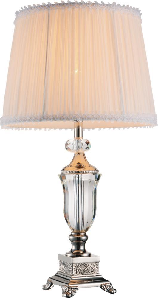 1 Light Table Lamp with Brushed Nickel finish