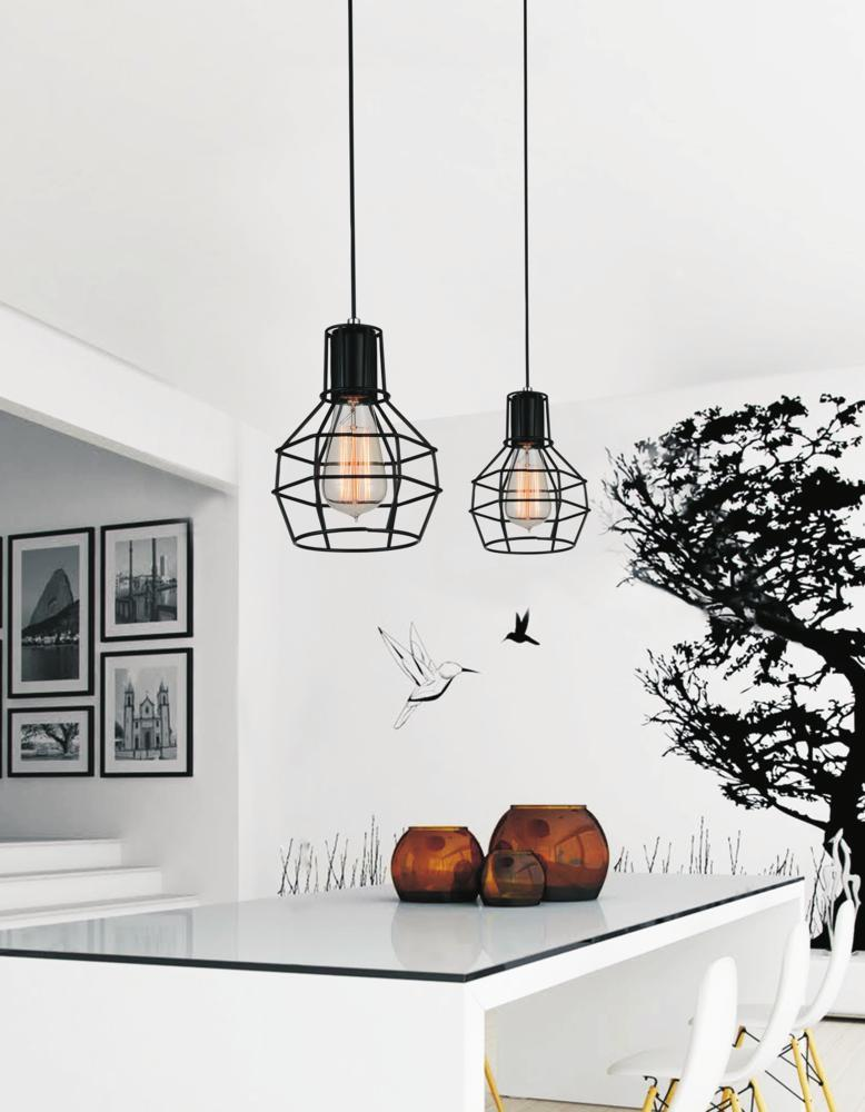 1 Light Black Down Mini Pendant from our Secure collection