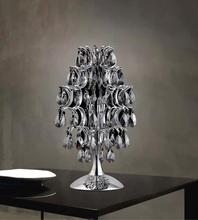 Crystal World 5011T9C (Smoke) - 3 Light Table Lamp with Chrome finish