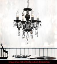 Crystal World 8272P14C-4 (Clear) - 4 Light Chrome Up Chandelier from our Princeton collection
