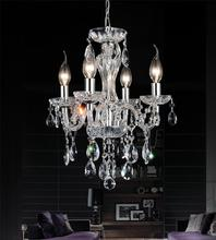 Crystal World 8273P14C-4 (clear) - 4 Light Chrome Up Chandelier from our Princeton collection
