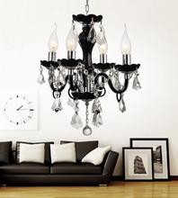 Crystal World 8274P14C-4 - 4 Light Chrome Up Chandelier from our Princeton collection