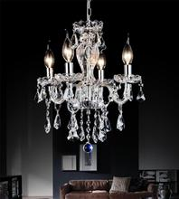 Crystal World 8276P14C-4 (Clear) - 4 Light Chrome Up Chandelier from our Princeton collection