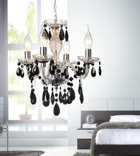 Crystal World 8277P14C-4 - 4 Light Chrome Up Chandelier from our Princeton collection
