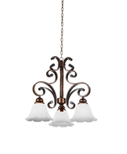 Crystal World 9822P21-3-124 - 3 Light Down Chandelier with Antique Gold finish