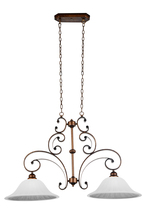 Crystal World 9822P39-2-124 - 2 Light Down Chandelier with Antique Gold finish