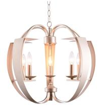 Crystal World 9950P21-5-221 - 5 Light  Chandelier with Pewter finish