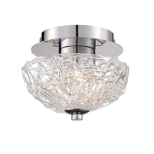 Eurofase Online 28200-017 - Caramico Hand Crafted Drizzled Glass Flushmount, Chrome Finish, 1 G9 Light Bulb, 7.5 Inches Long - 2